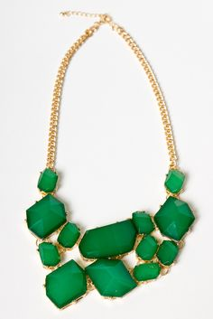 all hail the green necklace.