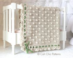 Crochet PATTERN - Sugar Baby - Baby Blanket PATTERN 12 - Instant Download