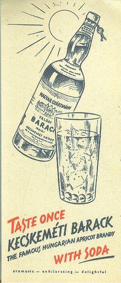 Taste once Kecskeméti Barack with Soda Hungarian Pálinka Old but true story :)