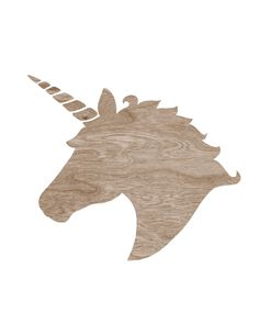 Brown Wood grain Faux Bois Unicorn Head Silhouette on White -  8 x 10 Home Decor Wall Art Print - Do you Believe in Magic. $16.00, via Etsy.
