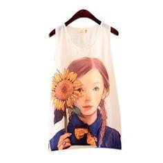 Lovely Fashion Women Girls Sleeveless Vest Tank Tops Blouse Casual T-shirt