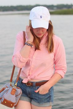 go-to summer outfit, baseball cap & all