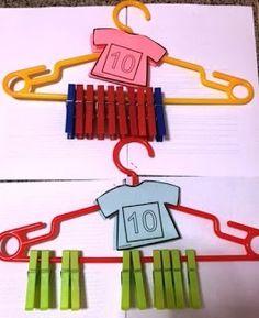 BLOGICMATES: COLABORAMOS CON OTROS NIVELES DE PRIMARIA Y CON IN... Preschool Centers, Numbers Preschool, Preschool Learning Activities, Toddler Activities, Preschool Activities, Montessori Math, Math Workshop, Math For Kids, Math Games