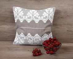 Check out this item in my Etsy shop https://www.etsy.com/listing/387181160/gray-white-filet-crochet-embroidered