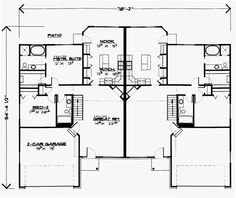 Duplex Plan chp-3353 at COOLhouseplans.com