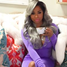 Toya Wright Gave Us Serious Glam With These Gorgeous Flowing Grey Curls Quick Weave Hairstyles