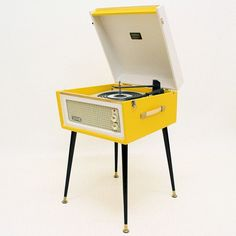 Image of VINTAGE 1960'S DANSETTE 'BERMUDA' RECORD PLAYER + LEGS! - FULLY SERVICED