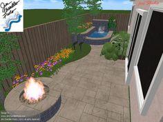 small yard idea - stone fire pit
