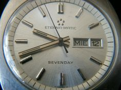 37mm - ETERNA MATIC SEVENDAY AUTOMATIC - VINTAGE Clock, Ebay, Vintage, Decor, Watch, Decoration, Clocks, Vintage Comics, Decorating