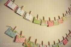 envelope advent calendar