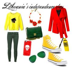 """""""Lithuania's independence day!"""" by armanda0313 ❤ liked on Polyvore featuring Dsquared2, Onoza, Uma 