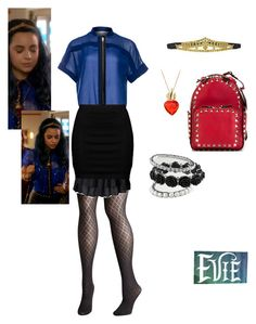 """""""descendants evie"""" by maria-calinaa on Polyvore featuring Avenue, Manon Baptiste, Zizzi and Valentino"""
