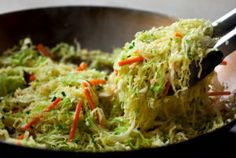 Spicy Stir-Fried Cabbage: View this and hundreds of other vegetarian recipes in the New York Times Eat Well Recipe Finder. Stir Fried Cabbage Recipes, Cabbage Stir Fry, Stir Fry Recipes, Cooking Recipes, Best Vegetable Recipes, Vegetarian Recipes, Healthy Recipes, Delicious Recipes, Vegetarian Cabbage