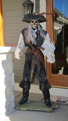 Pin by Ed Iverson on brethren of the coast Pirate Halloween Decorations, Pirate Halloween Party, Pirate Decor, Halloween Goodies, Pirate Theme, Halloween Skeletons, Halloween Season, Halloween Costumes For Kids, Fall Halloween