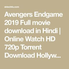 Avengers Endgame 2019 Full movie download in Hindi   Online Watch HD 720p Torrent Download Hollywood Hindi Dubbed 2019 Filmywap Avengers 4 Movie Website, Full Movies Download, Watches Online, Avengers, Hollywood, The Avengers