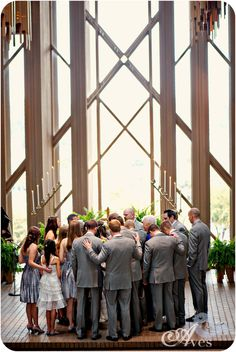 Absolutely love this - wedding party prayer over the couple. @Scarlett McCall we must remember this.