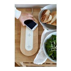 IKEA - NORDMÄRKE, Station de charge triple sans fil, , Vous pouvez facilement recharger sans fil votre smartphone en le posant tout simplement sur la station de charge.Vous pouvez charger 4 appareils en même temps car cette station de chargement comporte aussi un port USB.