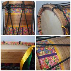 Tambor de Congada  Arte personalizada  www.ateliegiramundo.com Custom Art, Drum, Music Instruments