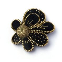 Unusual Zipper BroochFlower  of Felt Zipper Jewelry by PinkiWorld, $37.00