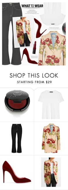 """""""what to wear"""" by zoja30 ❤ liked on Polyvore featuring Rituel de Fille, The Row, Attico, Gucci, Christian Louboutin, Bobbi Brown Cosmetics, PolyvoreTrendReport and PolyvoreMostStylish"""