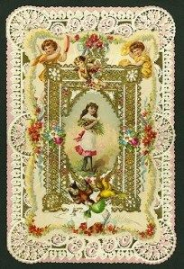 I love Victorian greeting cards, especially Valentine's Day cards!