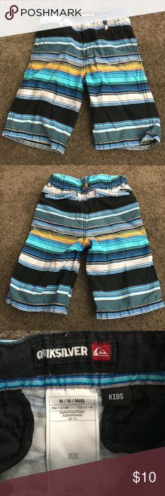 Boys' Quiksilver Striped Shorts Size M(6) Boys' Quiksilver Striped Shorts Size M(6).  Used but in good condition. No trades as only wanting to sell. Quiksilver Bottoms Shorts