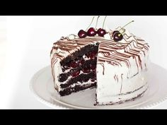 Chocolate Cherry Rum Cake with Meringue Butter Cream - Tatyanas Everyday Food