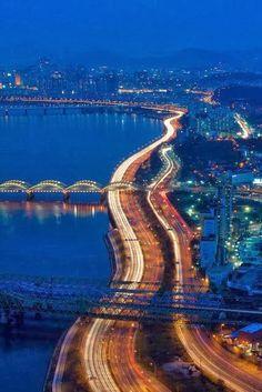 Han River - Seoul, South Korea #travel #places