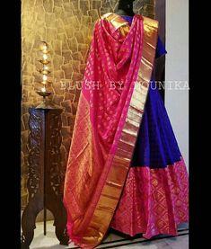 Silk Kurti Designs, Choli Designs, Lehenga Designs, Blouse Designs, Indian Attire, Indian Wear, Indian Dresses, Indian Outfits, Ethnic Trends