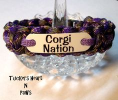 Corgi Nation Paracord Bracelet: Tucker's Mom makes these and often donates proceeds to charity.