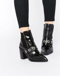 Image 1 - ASOS EXPECTATIONS - Bottines pointues style mocassin en cuir