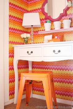 Beautiful Closet Office for a Little Lady