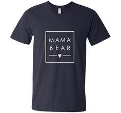 76a9ab1398ec5 Mama Bear tshirt cute Mother love new Mom minimalist square t-shirt