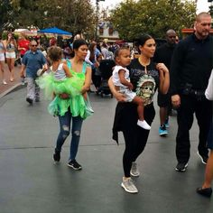 Kim Kardashian, North West, Kourtney Kardashian & Penelope Disick at Disneyland -  July 8, 2015