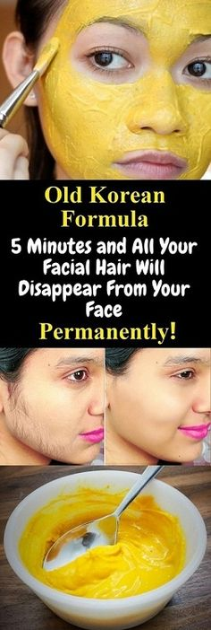 Old Korean Formula 5 Minutes and All Your Facial Hair Will Disappear From Your Face Permanently! - Style Vast : Old Korean Formula 5 Minutes and All Your Facial Hair Will Disappear From Your Face Permanently! Beauty Skin, Health And Beauty, Beauty Care, Beauty News, Beauty Secrets, Beauty Hacks, Diy Beauty, Beauty Makeup, Fashion Beauty