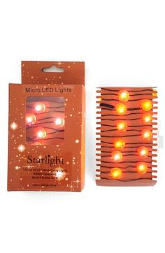 Arty 'Starlight - Pumpkin' Wire Micro LED Lights | Nordstrom