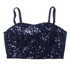 Victoria Secret PINK Fashion Show Exclusive Black Sequin Bustier Small *** Be sure to check out this awesome product.