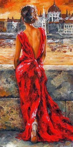 Emerico Imre Tóth   —  Lady in Red (450x900)