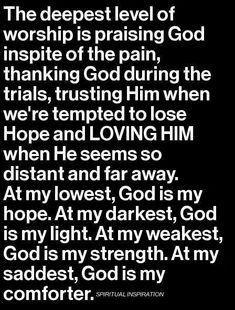 Trust God & Praise Him during trials