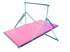 Gymnastics Bar 5 Tall Blue And White Pink Mat Combo Gymnastics Bars For Kids, Gymnastics Gear, Amazing Gymnastics, Gymnastics Videos, Gymnastics Girls, Gymnastics Equipment, Home Gym Equipment, Training Equipment, Sports Equipment