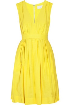 Love the classic shape mixed with the summery yellow in this Adam silk and cotton blend dress.
