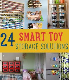 24 Smart Toy Storage Solutions by DIY Ready at www.diyready.com/storage-solutions-life-hack/