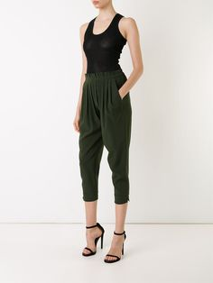 Scanlan Theodore cropped pleated trousers