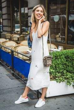 slip-dress-and-white-and-red-sneaker-shoes