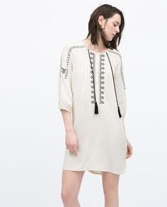 EMBROIDERED TUNIC-Soft Boho-WOMAN | ZARA United Kingdom