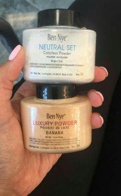 Love the Ben Nye setting powder: Colorless and Banana ;)