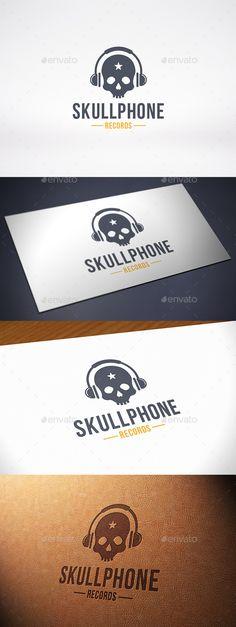 Music Skull Logo Template — Vector EPS #business #skull logo • Available here → https://graphicriver.net/item/music-skull-logo-template/10201543?ref=pxcr