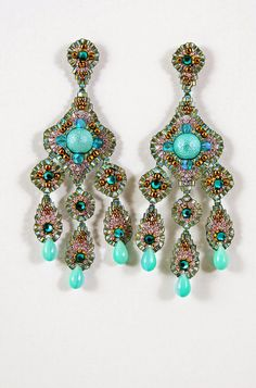 Beautiful beaded earrings. Glam style, Bollywood style