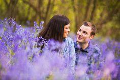 bluebell engagement shoot Essex engagement shoot location ideas. Couple pose ideas. Essex wedding photographers Sam & Louise photography. www.samandlouise.co.uk