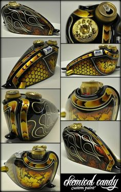 Bobber/Chopper fuel tank.Painted by Chemical Candy Customs